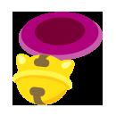 鈴つき首輪 赤紫