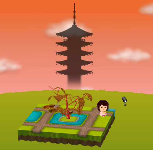 コイコイ五重塔シルエット 設置例
