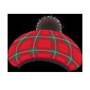 タータンチェックベレー帽