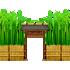 竹の壁 門