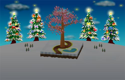 コイコイ2本クリスマスツリー 右/左 設置例