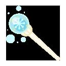 手持ち雪の杖 ブルー