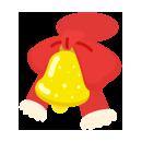 赤鼻のトナカイベル付きリボン