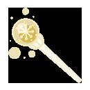 手持ち雪の杖 ゴールド
