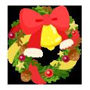 手持ちクリスマスリース