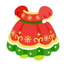 クリスマスドレス 赤x緑