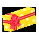 手持ちプレゼントボックス 黄色