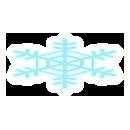 雪の結晶 ブルー