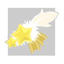星の頭飾り ファーホワイト