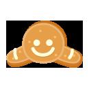 頭のせジンジャークッキー