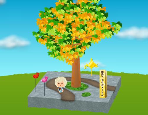 金の標高三七七六メートルの碑、鯛ピックB 赤/ピンク、金の北海道ピック 設置例