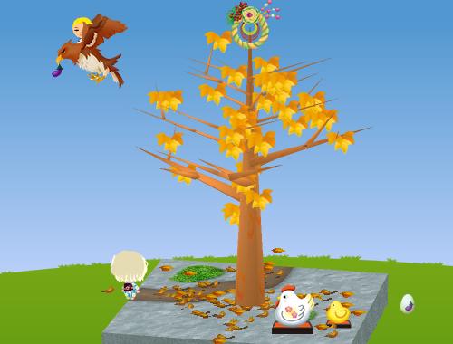 トップ正月飾り、コイコイ鷹、酉年の置物、酉年の置物 ひよこ 設置例