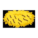 虎柄えりまき 黄