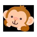 頭のせお供 猿