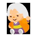手つなぎおばあさん