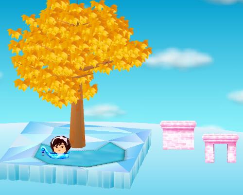 氷のゴンドラ、氷の門 ピンク、氷の壁 ピンク 設置例