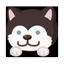 頭のせソリ犬
