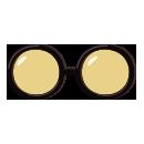 丸メガネ セルフレーム黒