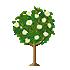 椿の木 白