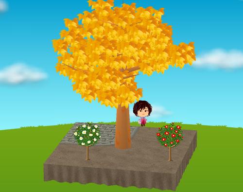 椿の木 赤/白 設置例