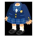 ブレザー制服紺&靴女子セット