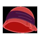 クロッシェ帽子 赤