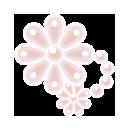 頭飾り パール花