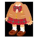 ブレザー制服キャメル&靴女子セット